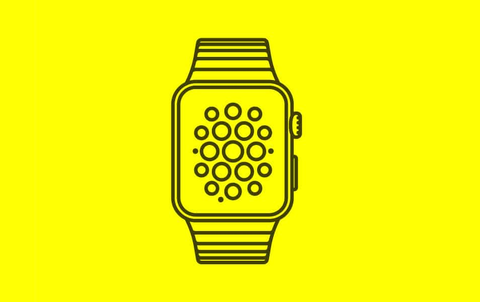 Simple Apple Watch vector Template