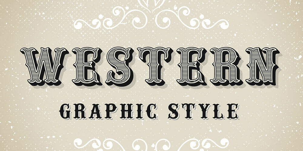 Western Style Text Effect PSD