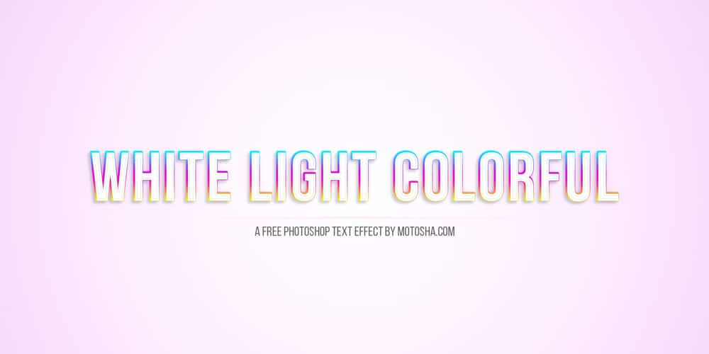 White Light Colorful Text Effect PSD