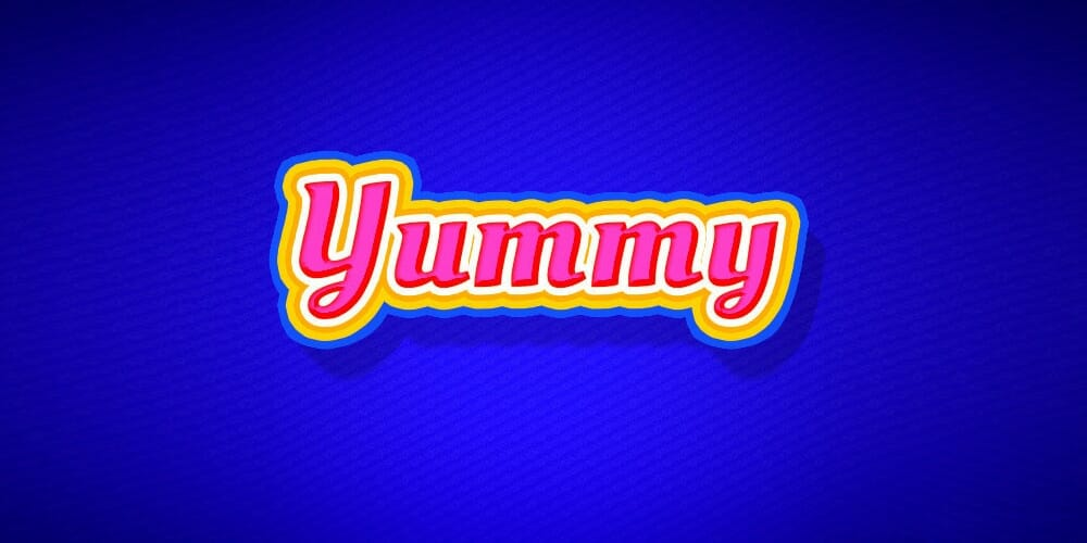 Yummy Text Style PSD