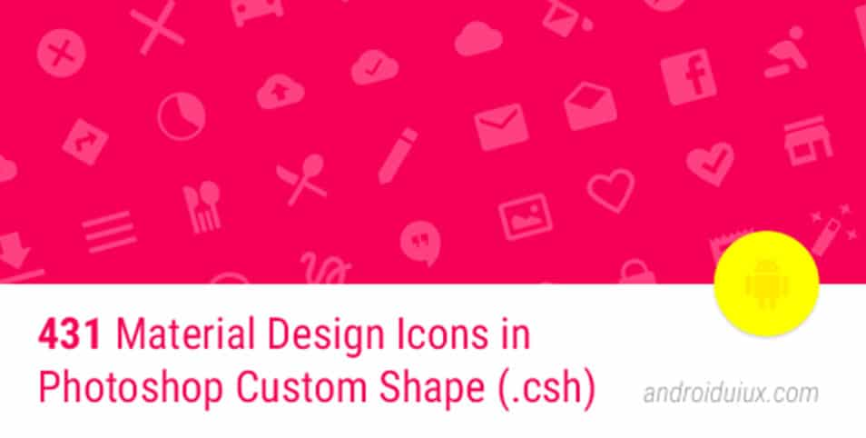 431 Material Design Icons in Photoshop Custom Shape format