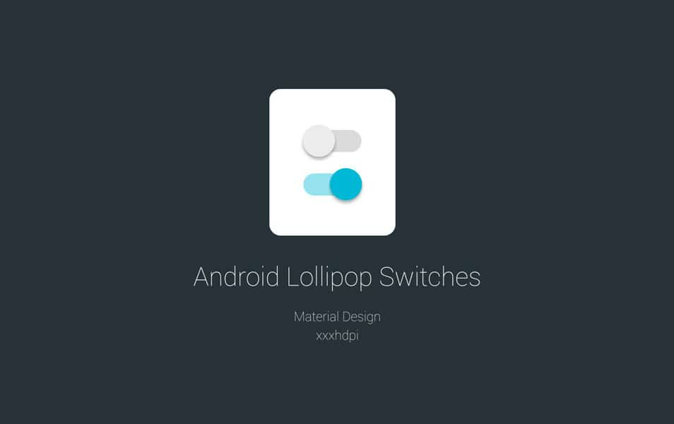 Android Lollipop Switches PSD
