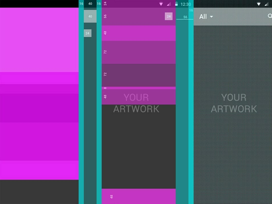 Android Material Design Basic Elements Layout