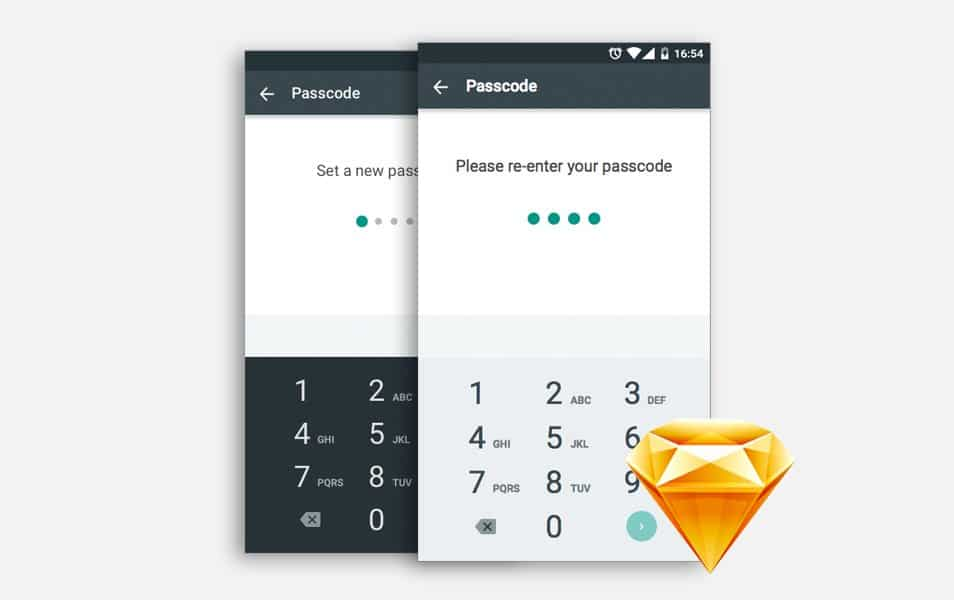 Android Material Design Number Pad