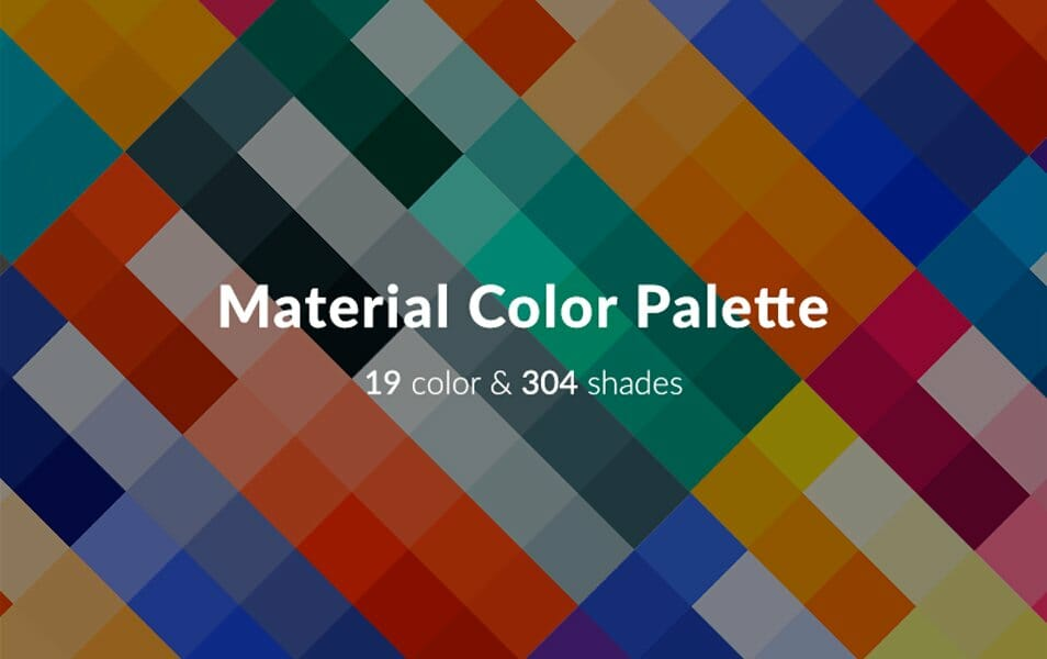 Material Color Palette for Sketch