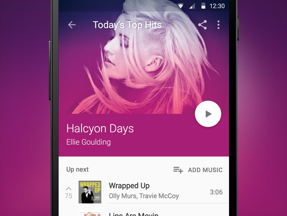 Material Design Music Player