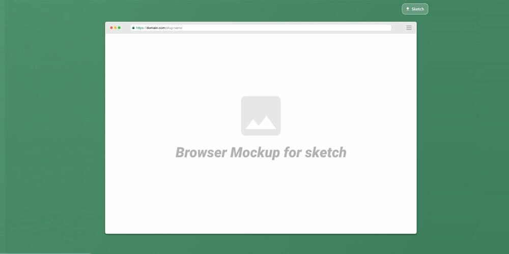 Sketch Browser Mockup