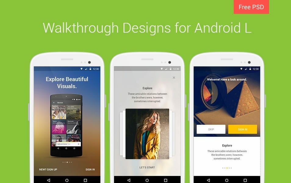 Walkthrough Design for Android L