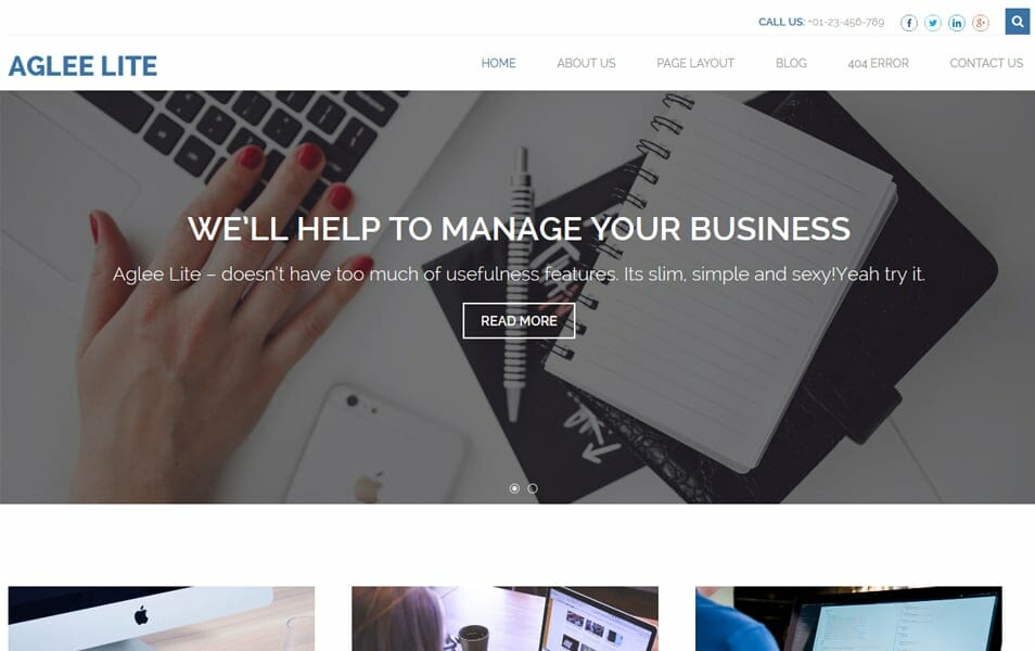 Aglee Lite Responsive WordPress Theme