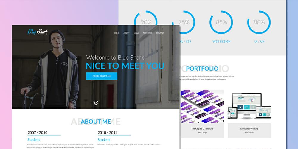 free portfolio website templates psd css author