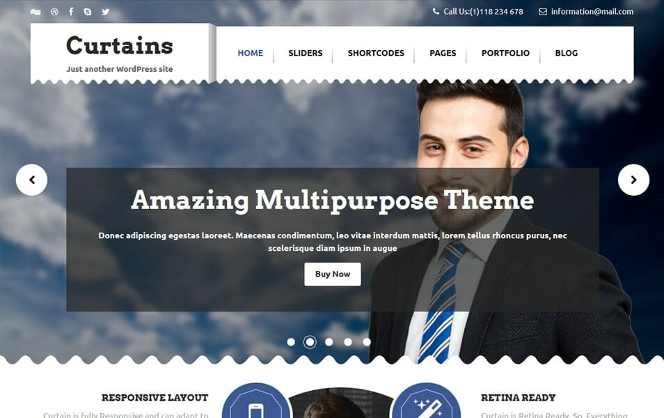 Curtains Responsive WordPress Theme