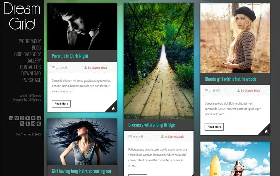 DreamGrid Responsive Blogger Template