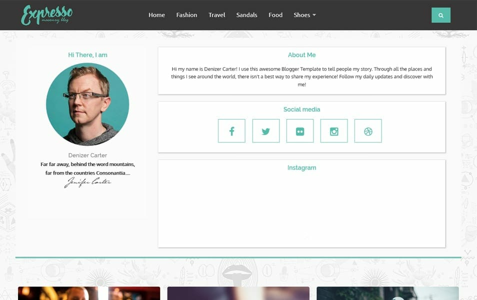 Expresso Responsive Blogger Template