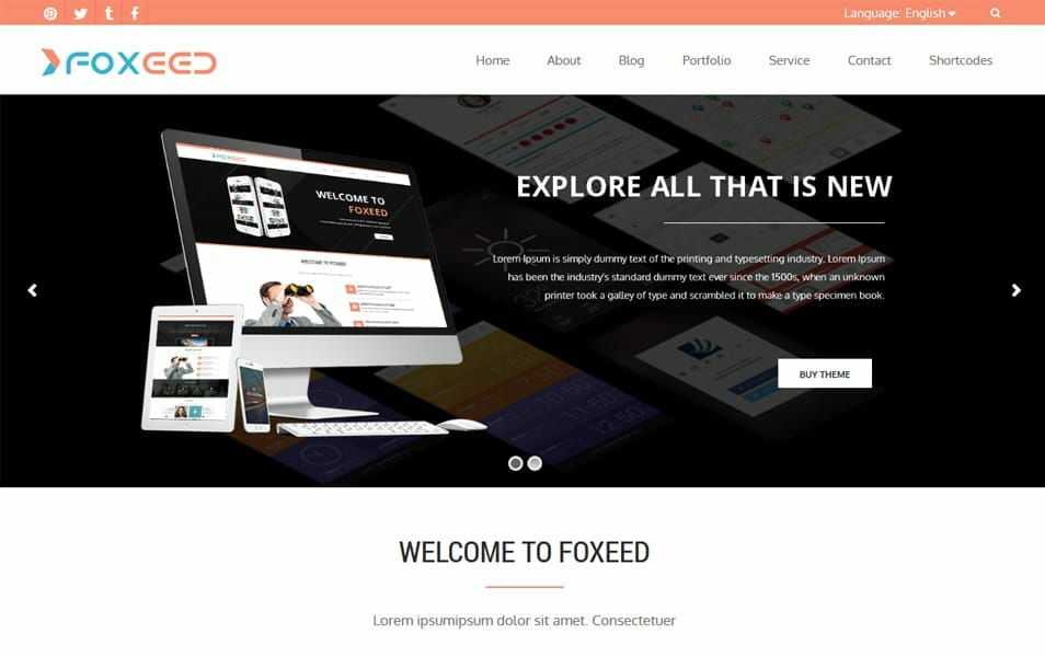 Foxeed Lite Responsive WordPress Theme