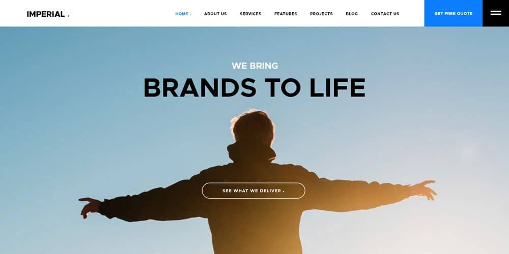 Imperial Free Website Templates PSD