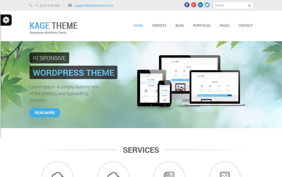 Kage Free – Responsive WordPress Theme