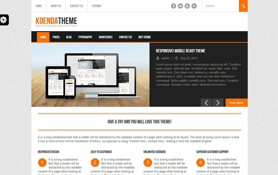 Koenda Free – Responsive WordPress Theme