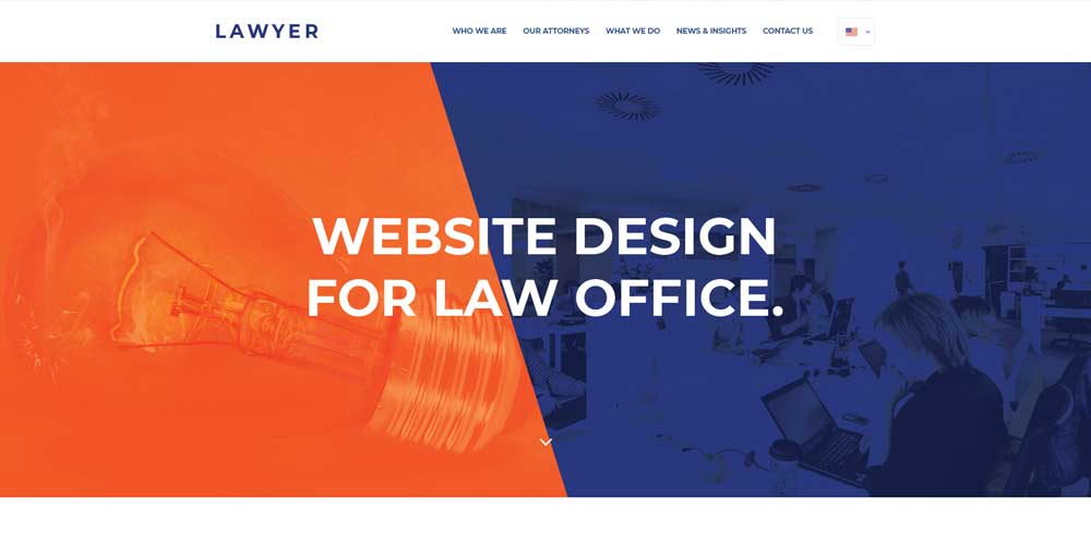 Free corporate and business web templates psd lawyer free web template psd cheaphphosting Images