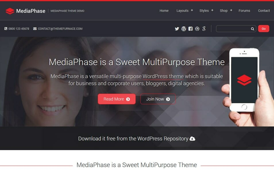 Mediaphase Lite Responsive WordPress Theme