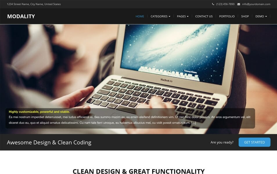Modality Responsive WordPress Theme