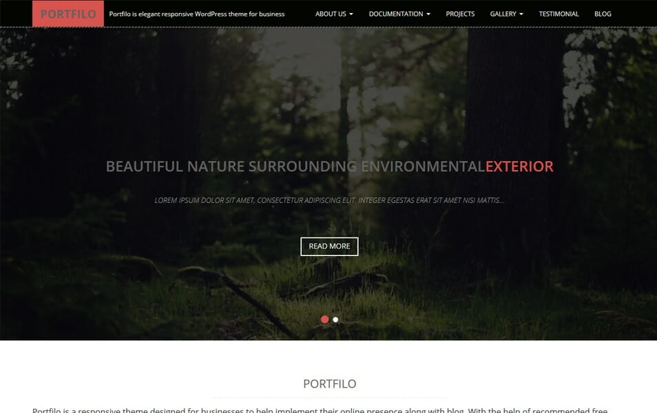Portfilo Responsive WordPress Theme