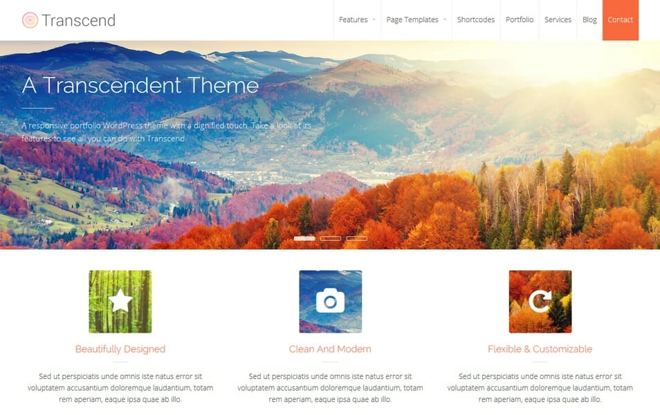 Transcend Responsive WordPress Theme