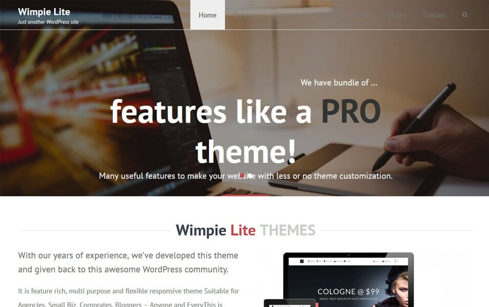 Wimpie Lite Responsive WordPress Theme