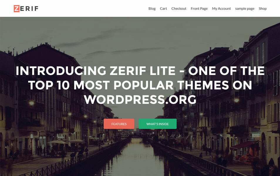 Zerif Lite - Free One Page WordPress Theme