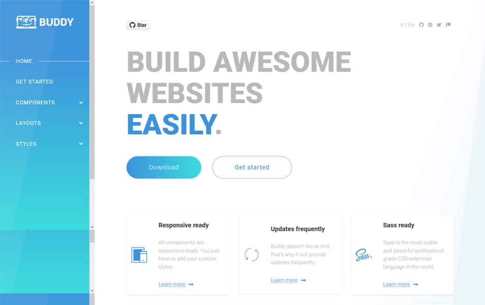 100 best css frameworks for responsive design buddycss is a simple css framework to build awesome websites easily malvernweather Gallery