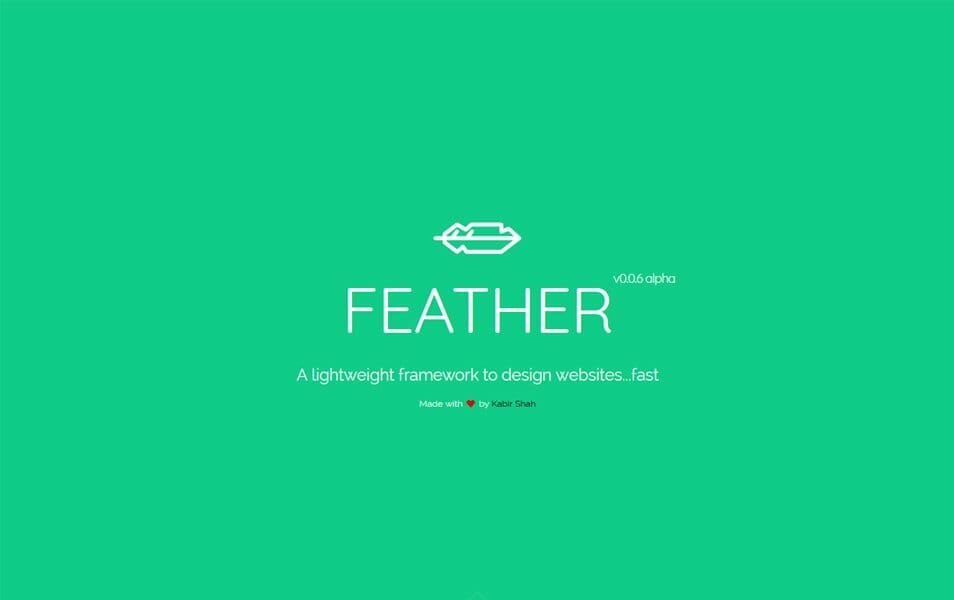 100 best css frameworks for responsive design feather css framework malvernweather Images