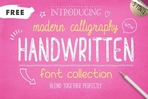 Handwritten Font Collection
