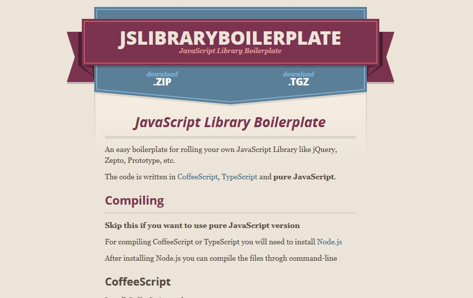 JavaScript Library Boilerplate