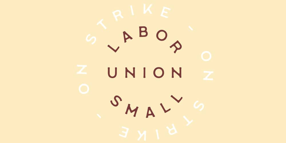 Labour Union Small Vintage Font