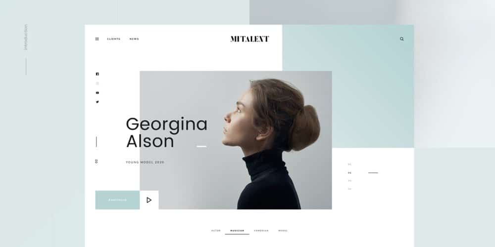MI Talent Free Web Template PSD for Agencies