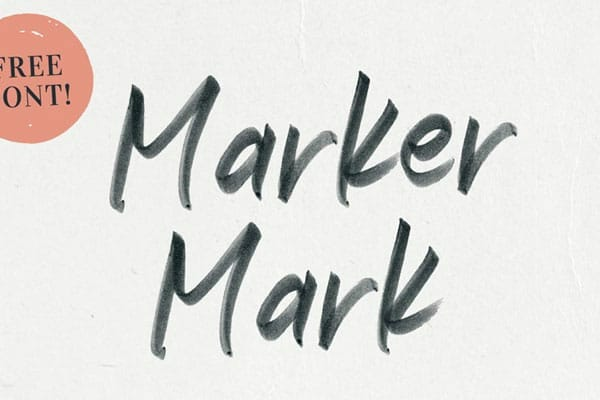 Marker Mark Handwritten SVG Font