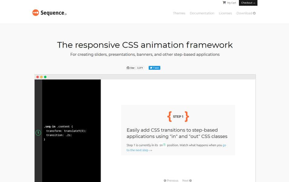 100 best css frameworks for responsive design the responsive css animation framework for creating unique sliders presentations banners and other step based applications malvernweather Images