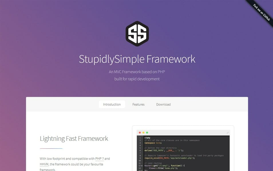 StupidlySimple Framework