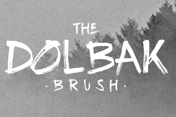 The Dolbak Handwritten Brush Font
