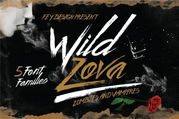 Wild Zova Hand Drawn Brush Font