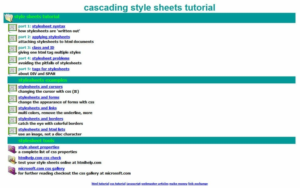 cascading style sheets tutorial