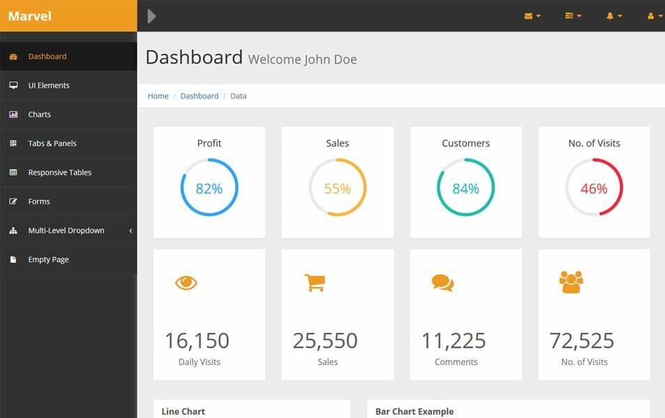 Best Free Bootstrap Admin Templates CSS Author - Free html dashboard templates