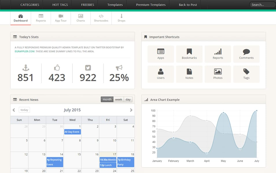 TemplateVamp - Twitter Bootstrap Admin Template