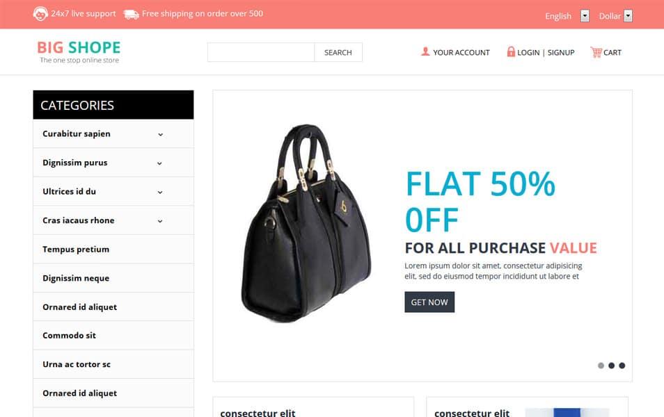 Big Shope HTML Template