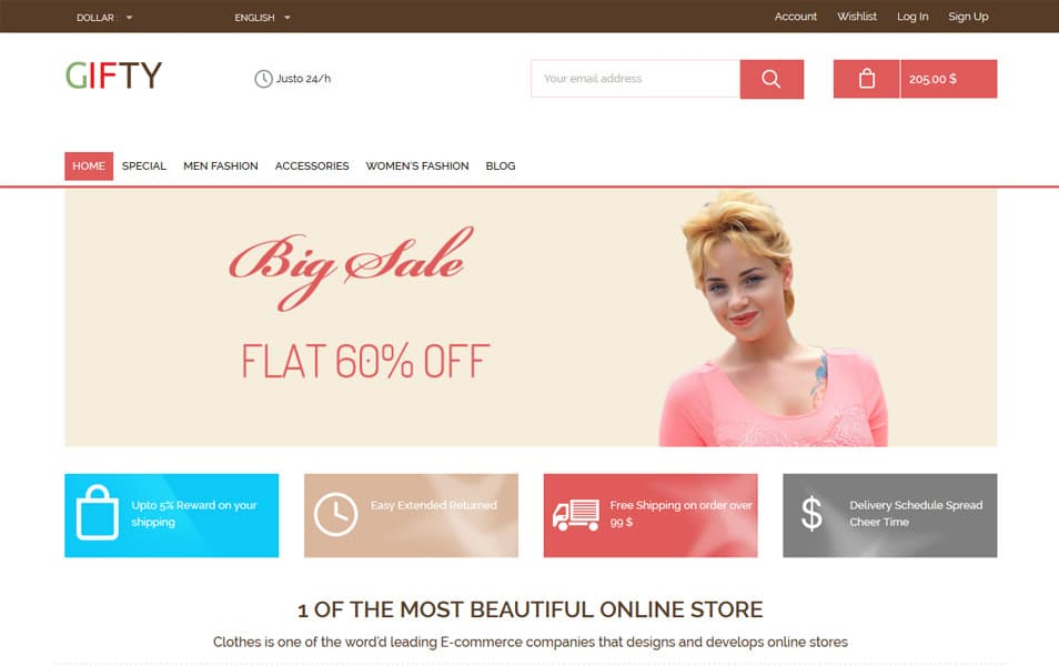 Free Responsive HTML Ecommerce Website Templates - Html invoice template free download christian book store online