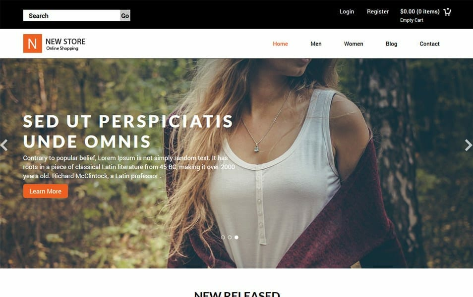 50 Free Responsive Html5 E Commerce Website Templates