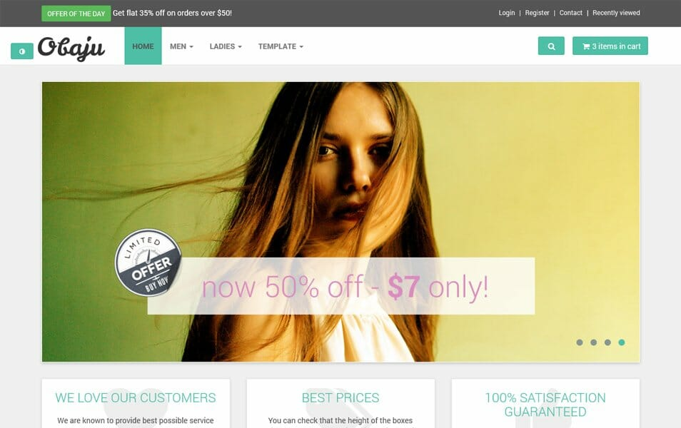 Html5 Ecommerce Templates | 50 Free Responsive Html5 E Commerce Website Templates