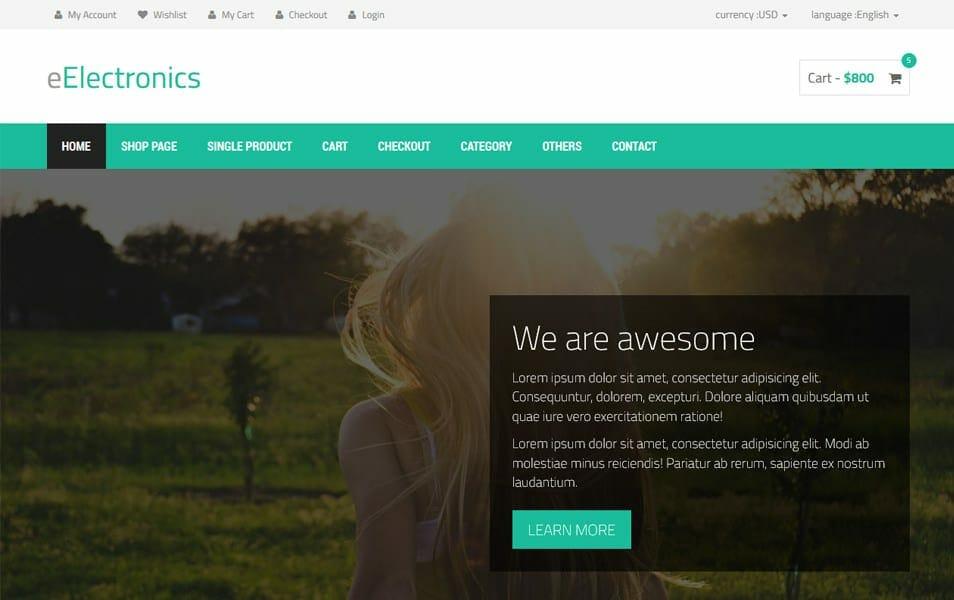 50+ Free Responsive HTML5 E-commerce Website Templates