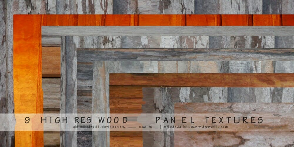 High Res Wood Panel Textures