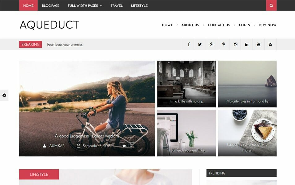 Aqueduct Responsive WordPress Theme