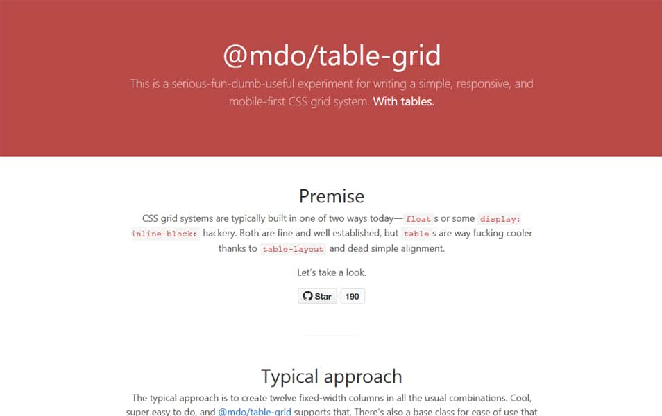 Table Grid